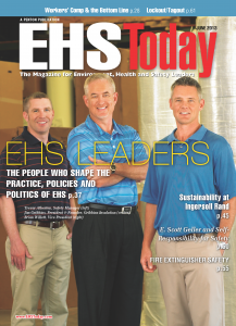 Trevor Atherton, Jim Gribbins, and Brian Willett on the June 2013 issue of EHS Today