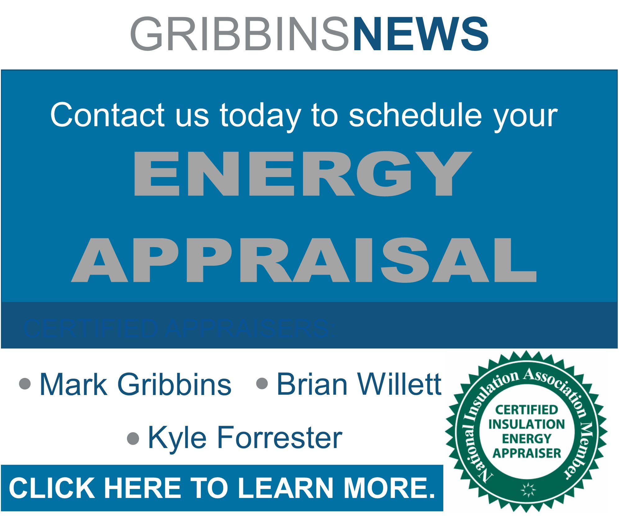 Certified Insulation Energy Appraisals